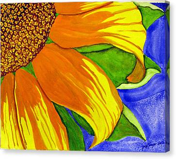 This Is No Subdued Sunflower Canvas Print by Debi Singer