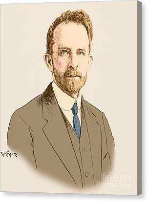 Thomas Hunt Morgan, American Geneticist Canvas Print by Science Source