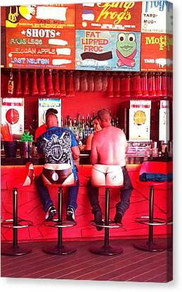 Thongs In Red Canvas Print