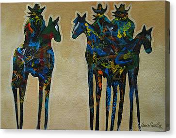 Three In Color Canvas Print by Lance Headlee