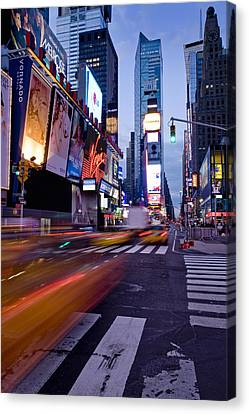 Crosswalk Canvas Print - Times Square, Theatre District, Manhattan, New York, Usa by Ben Pipe Photography