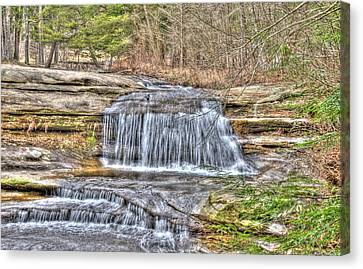 Top Of The Upper Falls Canvas Print by Shirley Tinkham