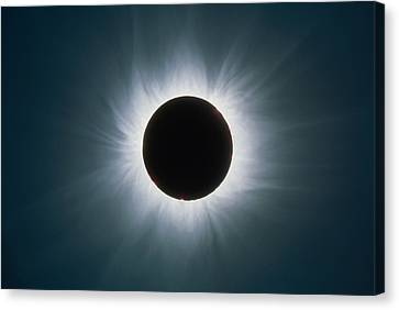 Total Solar Eclipse With Corona Canvas Print by Dr Fred Espenak
