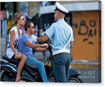 Traffic Cop Canvas Print by Andrew  Michael