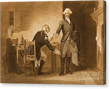Treason Of Benedict Arnold, 1780 Canvas Print by Photo Researchers