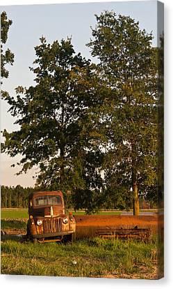 Truck And Tank 14 Canvas Print by Douglas Barnett