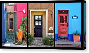 Tucson Barrio Door Trio Canvas Print