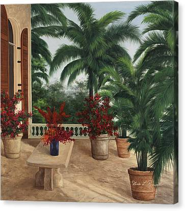Tuscan Patio Canvas Print