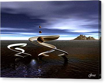 Twin Concepts In Balance Canvas Print by Julie Grace