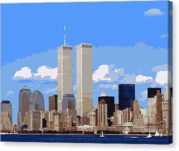 Twin Towers Color 16 Canvas Print by Scott Kelley