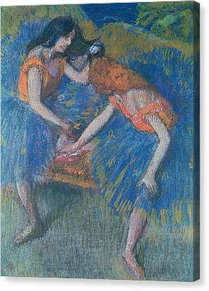 Two Dancers Canvas Print by Edgar Degas