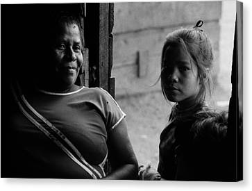 Two Generations Canvas Print by Michael Mogensen