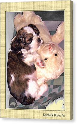 Two Stuffed Animals Canvas Print by Debbie Portwood
