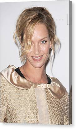 Uma Thurman In Attendance For Friars Canvas Print by Everett