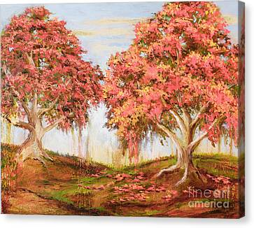 Under The Trees Canvas Print by Vic  Mastis