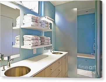 Upscale Bathroom Interior Canvas Print by Inti St. Clair