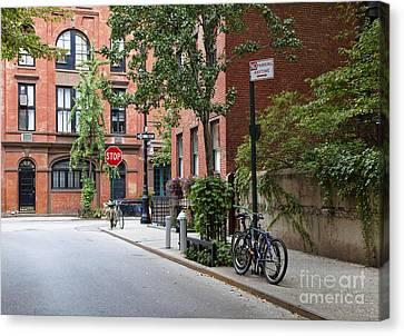 Urban Neighborhood Street Corner Canvas Print