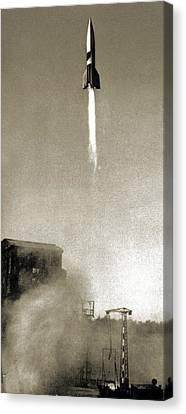 V-2 Prototype Rocket Launch, 1942 Canvas Print by Detlev Van Ravenswaay