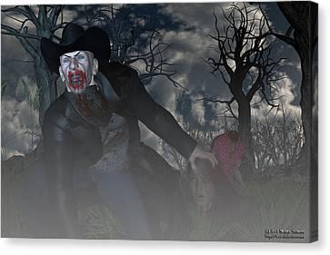 Vampire Cowboy Canvas Print