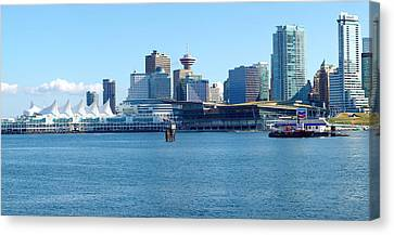 Vancouver Bc Waterfront Skyline Panorama. Canvas Print by Gino Rigucci