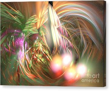 Vanilla Moment - Fractal Art Canvas Print