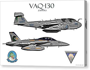 Vaq-130 Prowler And Growler Canvas Print by Clay Greunke
