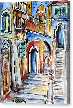 Vecchio Vicolo A Trastevere Canvas Print