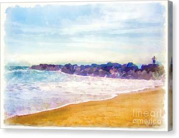 Venice Beach Canvas Print by Dawn Serkin
