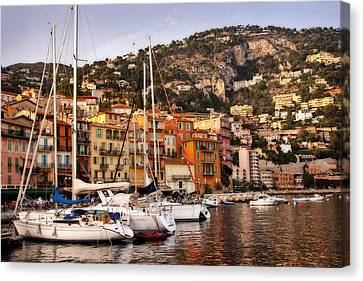 Canvas Print featuring the photograph Villefranche-sur-mer  by Steven Sparks