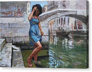 Stare Canvas Print - Viola In Venice by Ylli Haruni