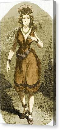 Native American Clothes Canvas Print - Virginia Dare by Photo Researchers