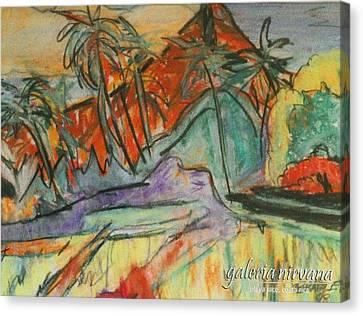 Volcan Rojo 98 Canvas Print by Bradley Bishko