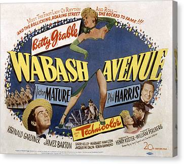 Wabash Avenue, Betty Grable, 1950 Canvas Print by Everett
