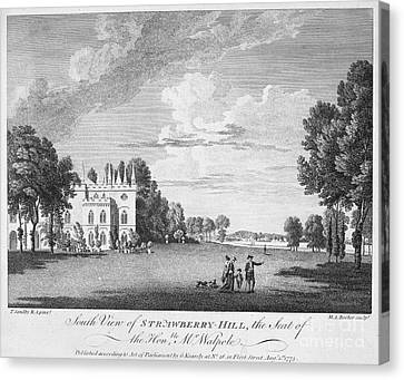 Walpole Home, 1775 Canvas Print by Granger