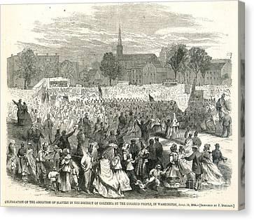 Washington: Abolition, 1866 Canvas Print by Granger