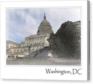 Senate Canvas Print - Washington Dc Capitol Hill Building by Brandon Bourdages