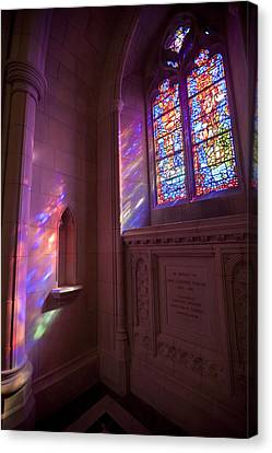 Washingtons National Cathedral Stained Canvas Print
