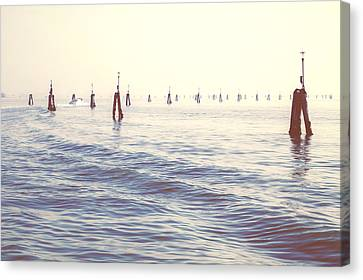 Waterway In The Lagoon Of Venice Canvas Print by Joana Kruse