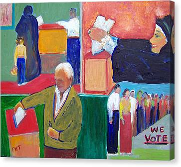 We Vote Canvas Print by Patricia Taylor
