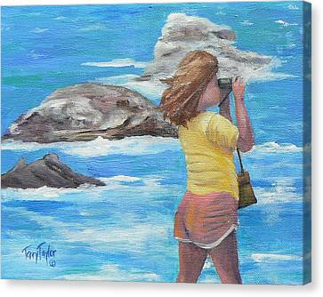 Canvas Print featuring the painting What's Out There by Terry Taylor