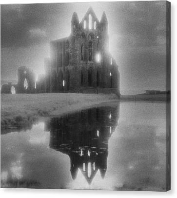 Sombre Canvas Print - Whitby Abbey by Simon Marsden