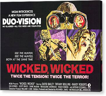 Wicked, Wicked, Top And First From Left Canvas Print by Everett