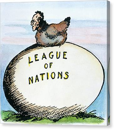 Wilson: League Of Nations Canvas Print by Granger