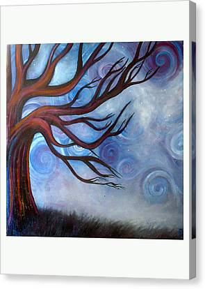 Canvas Print featuring the painting Wind by Monica Furlow