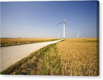 Wind Turbine, Humberside, England Canvas Print by John Short