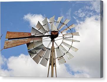 Windmill Canvas Print by Teresa Blanton