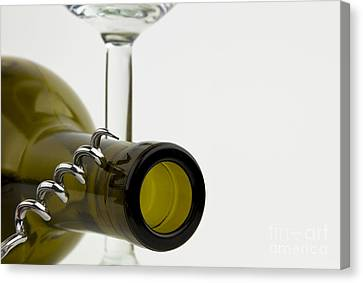 Wine Bottle Canvas Print by Blink Images