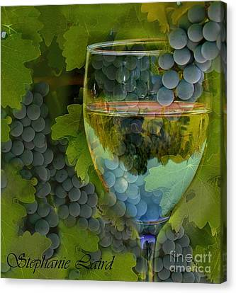 Wine Glass Canvas Print by Stephanie Laird