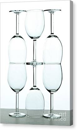 Wine Reflection Art Canvas Print - Wine Glasses by Blink Images