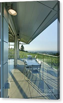 Wine Tasting Balcony Canvas Print by Rob Tilley